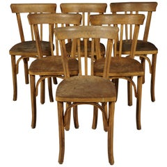 Set of Six Bistro Chairs from France, 1960s