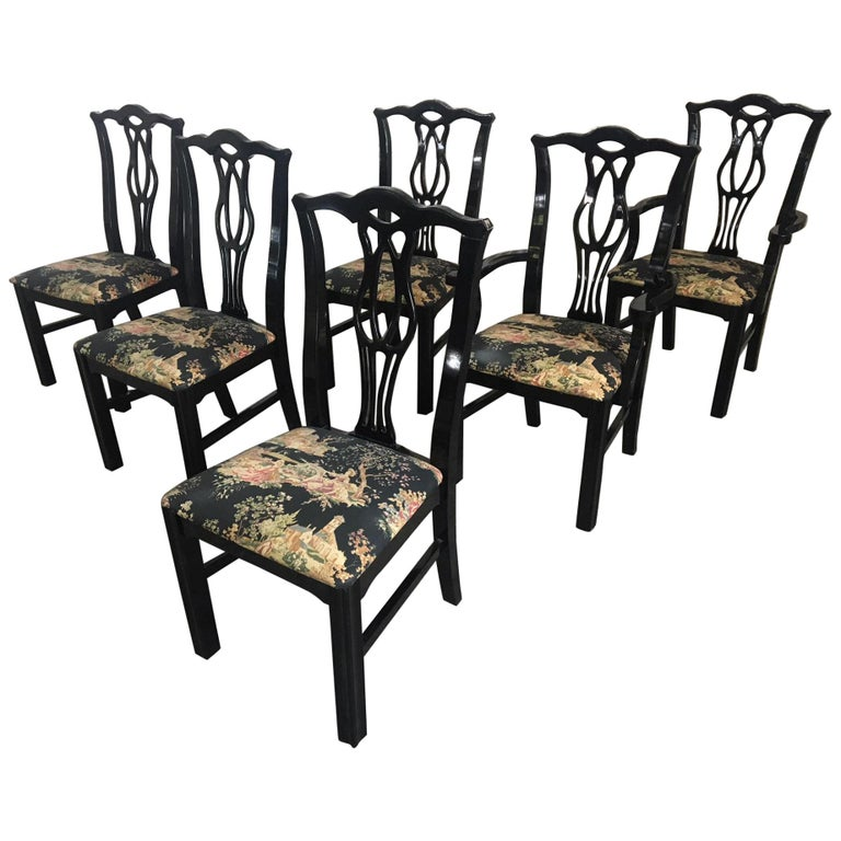 Tremendous Chinoiserie Dining Room Chairs 23 For Sale At 1Stdibs Machost Co Dining Chair Design Ideas Machostcouk