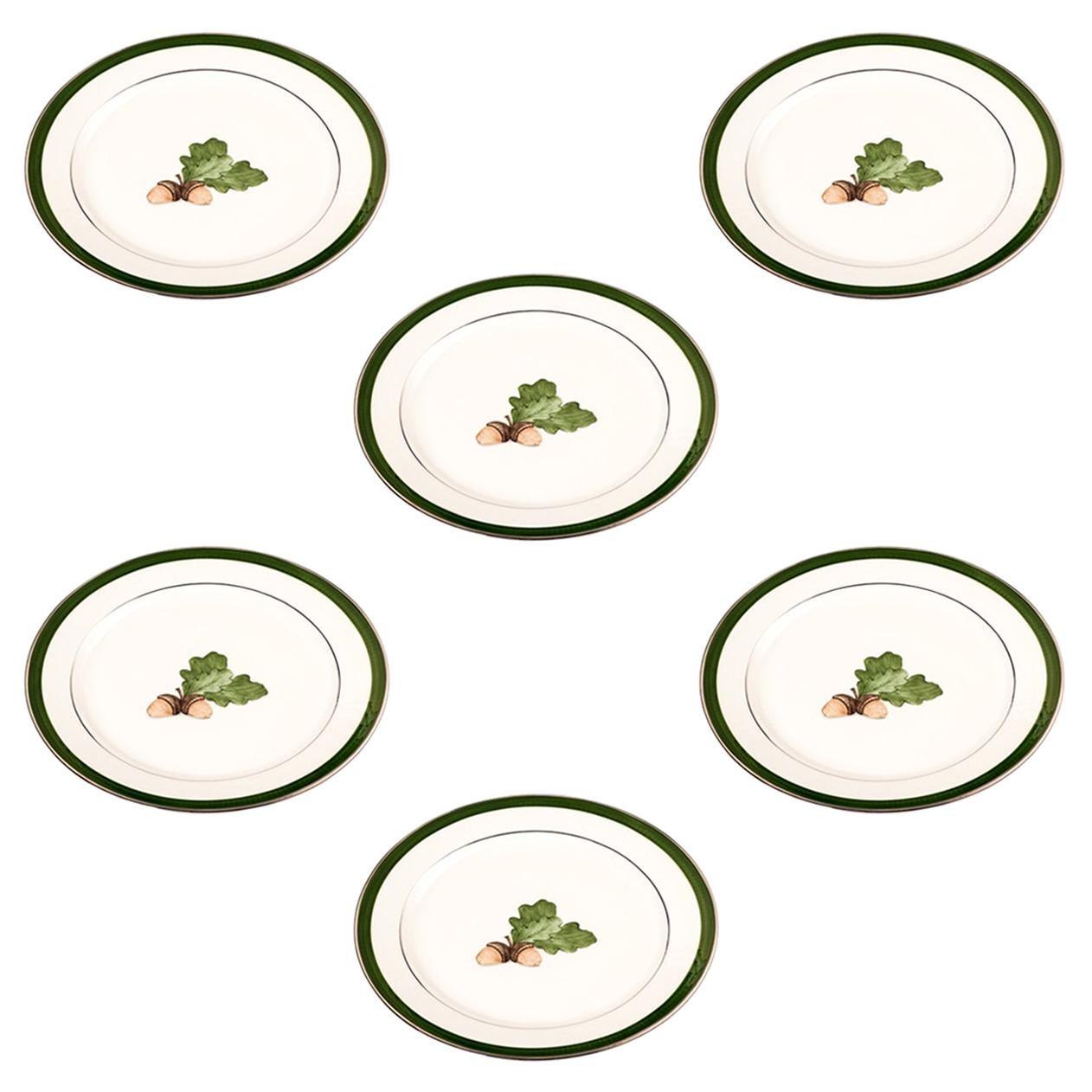 Set of Six Black Forest Hand Painted Breakfast Plates Sofina Boutique Kitzbühel