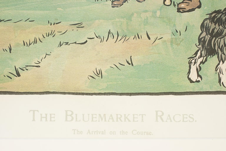 Set of Six Bluemarket Races Prints by Cecil Aldin For Sale 3