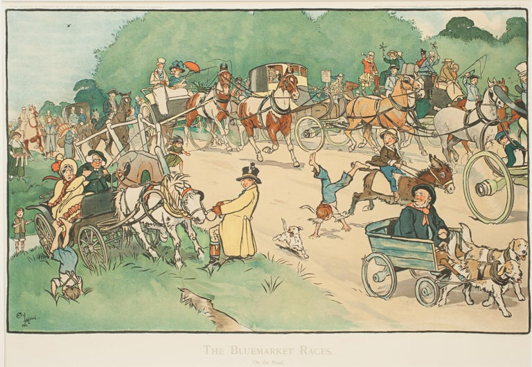 Set of Six Bluemarket Races Prints by Cecil Aldin For Sale 4