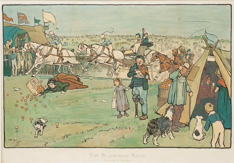 Set of Six Bluemarket Races Prints by Cecil Aldin For Sale 5