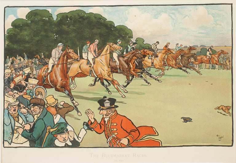 Set of Six Bluemarket Races Prints by Cecil Aldin For Sale 6