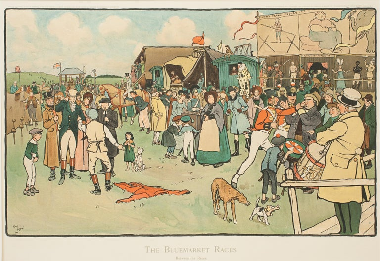 Set of Six Bluemarket Races Prints by Cecil Aldin For Sale 7