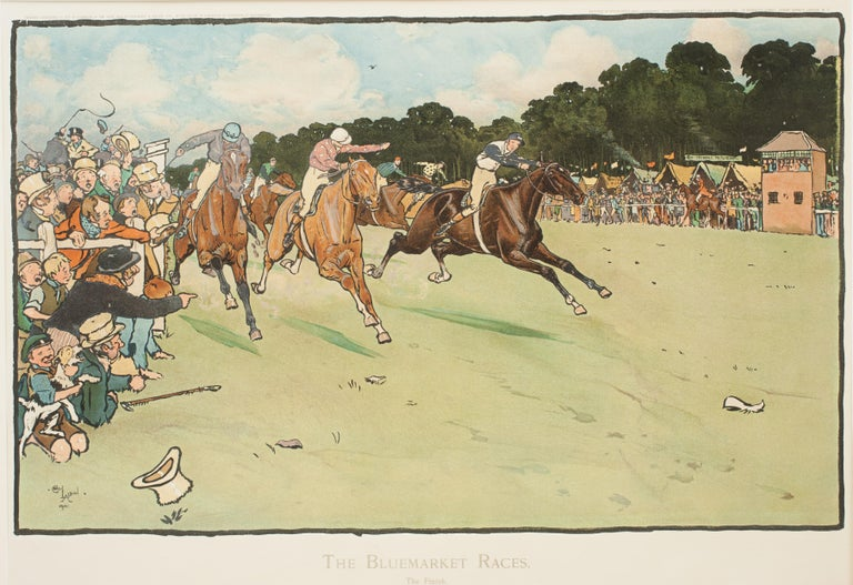 Set of Six Bluemarket Races Prints by Cecil Aldin For Sale 8