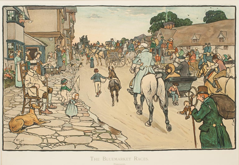Set of Six Bluemarket Races Prints by Cecil Aldin For Sale 9
