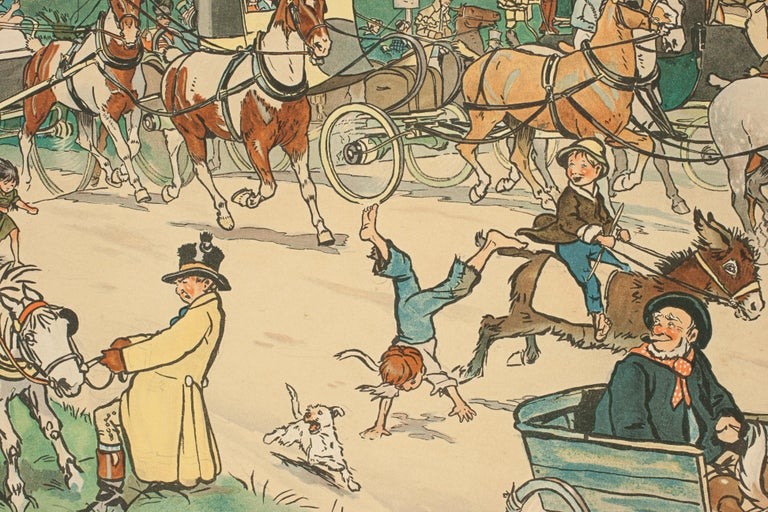 Set of Six Bluemarket Races Prints by Cecil Aldin For Sale 10
