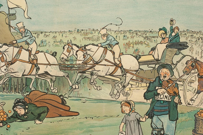 Set of Six Bluemarket Races Prints by Cecil Aldin For Sale 11