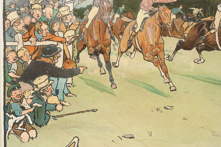 Set of Six Bluemarket Races Prints by Cecil Aldin For Sale 12