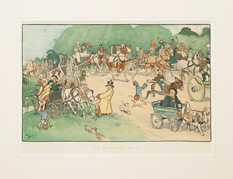 Set of Cecil Aldin Bluemarket Races Prints.