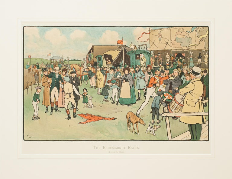 Set of Six Bluemarket Races Prints by Cecil Aldin In Good Condition For Sale In Oxfordshire, GB
