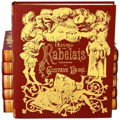 "Set of Six Books ""Oeuvres de Rabelais"" Illustrated by Gustave Doré, France, 1971"