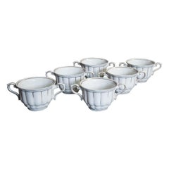 Set of Six Bouillon Cups