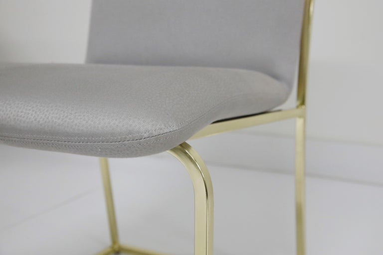 Set of Six Brass Dining Chairs by Design Institute America, Signed For Sale 4