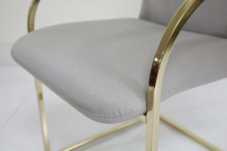 Set of Six Brass Dining Chairs by Design Institute America, Signed For Sale 5