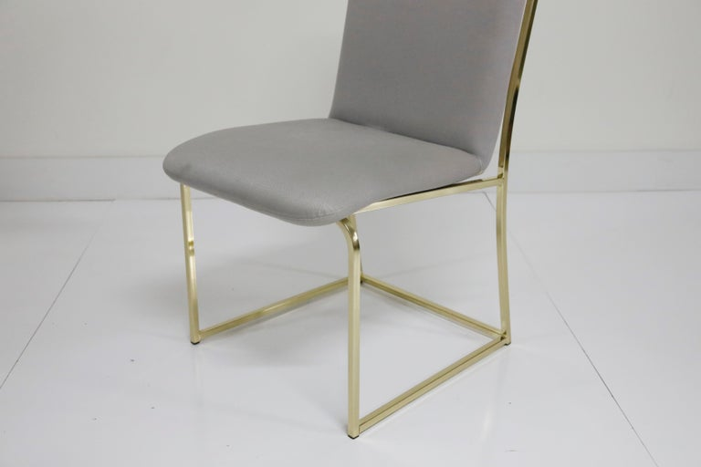 Set of Six Brass Dining Chairs by Design Institute America, Signed For Sale 6