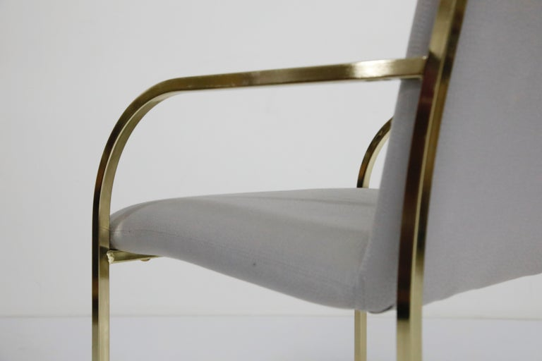 Set of Six Brass Dining Chairs by Design Institute America, Signed For Sale 11