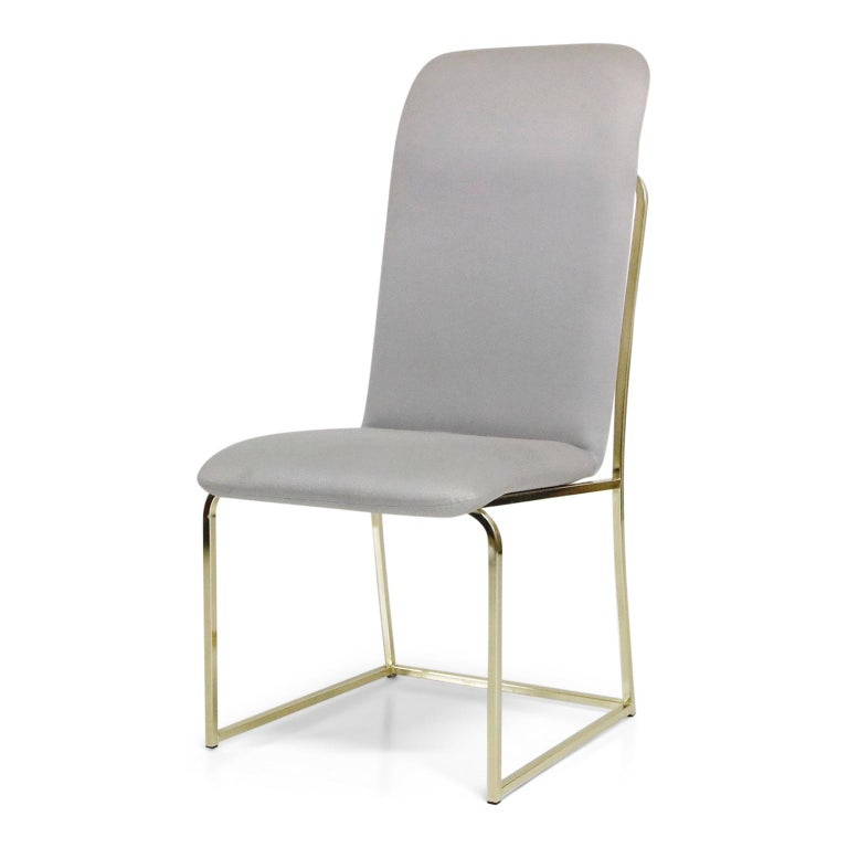 Set of Six Brass Dining Chairs by Design Institute America, Signed In Good Condition For Sale In Los Angeles, CA
