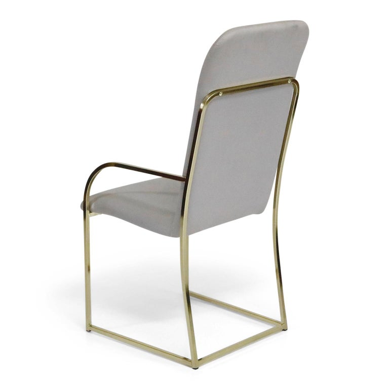 Set of Six Brass Dining Chairs by Design Institute America, Signed For Sale 2
