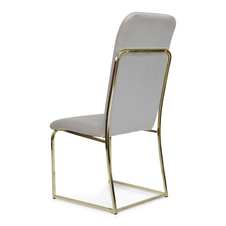 Set of Six Brass Dining Chairs by Design Institute America, Signed For Sale 3