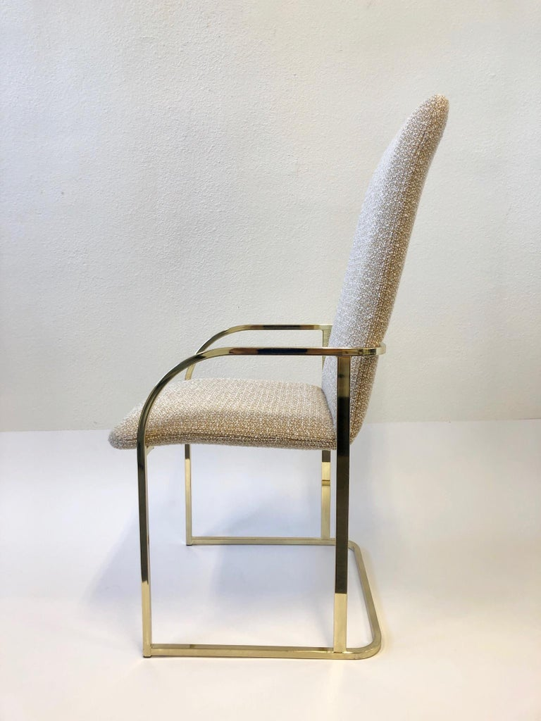 Set of Six Brass High Back Dining Chairs by DIA In Excellent Condition For Sale In Palm Springs, CA