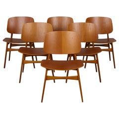 Set of Six Børge Mogensen Teak Dining Chairs