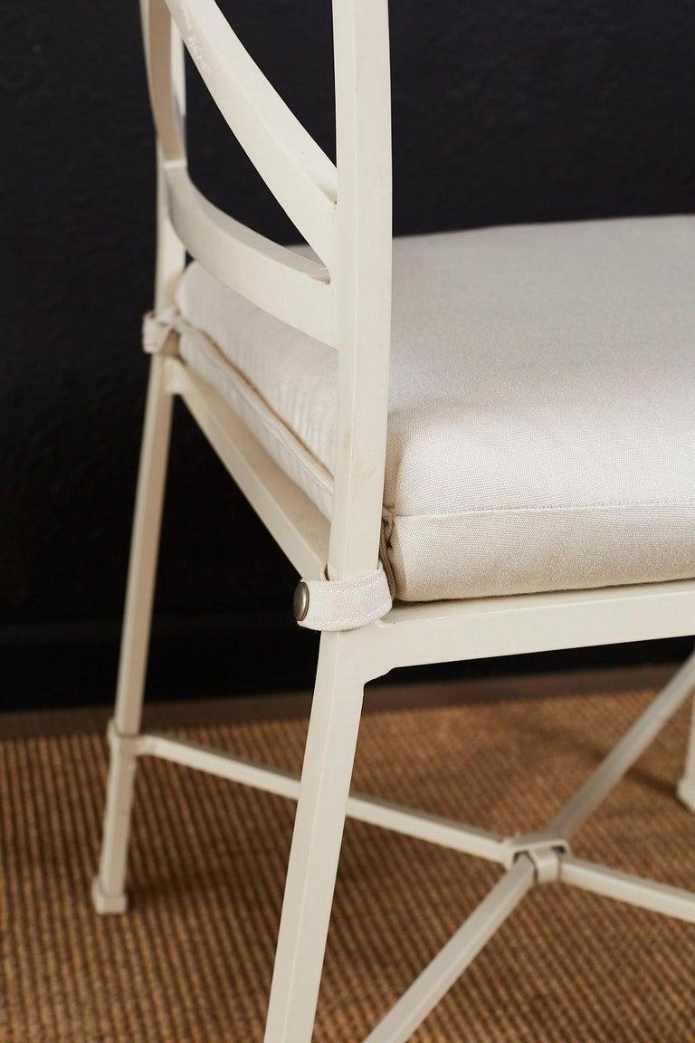 Set of Six Brown Jordan Aluminium Patio Garden Chairs For Sale 2