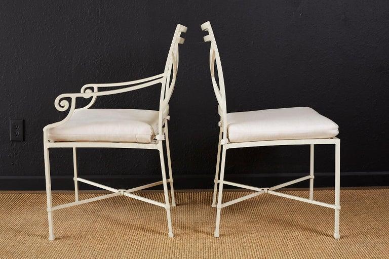 Set of Six Brown Jordan Aluminium Patio Garden Chairs For Sale 3