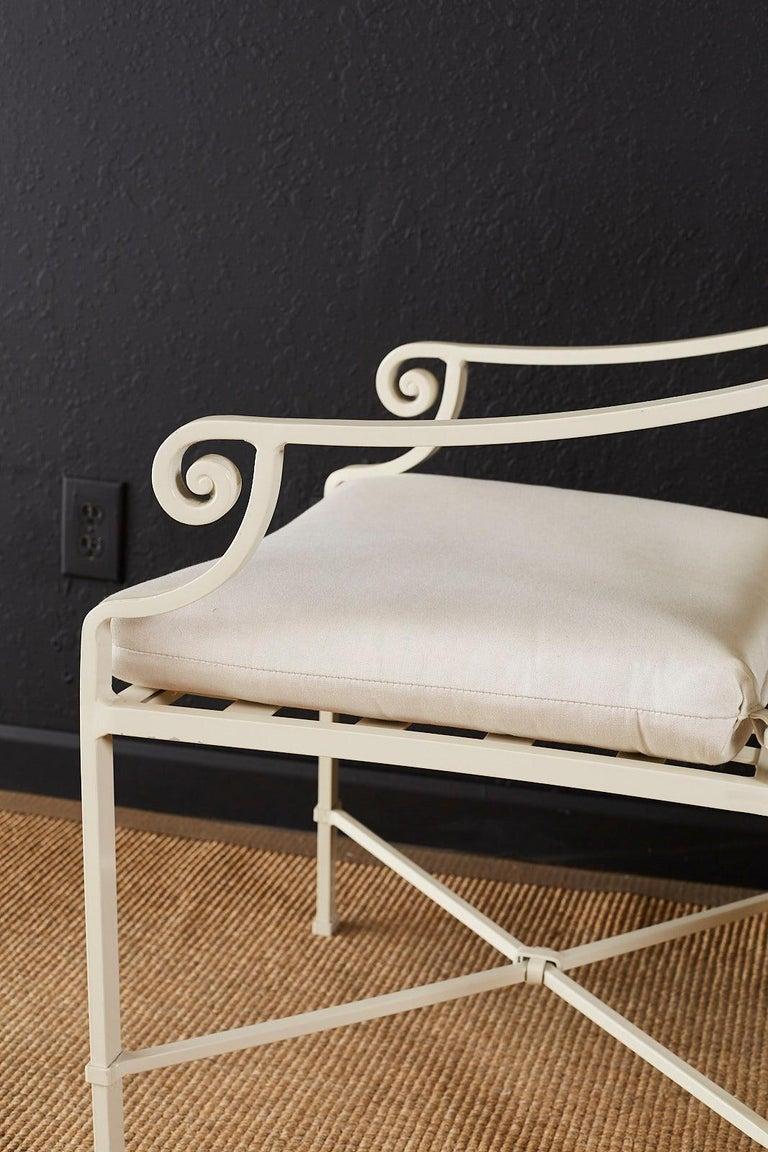 Set of Six Brown Jordan Aluminium Patio Garden Chairs For Sale 4