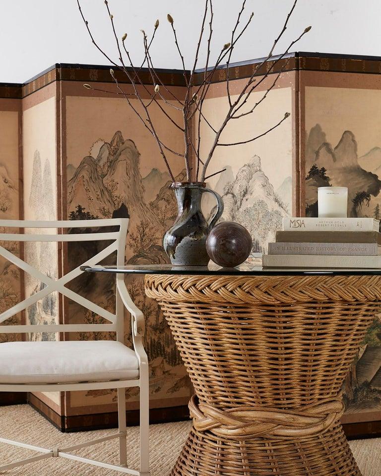 Set of Six Brown Jordan Aluminium Patio Garden Chairs For Sale 5
