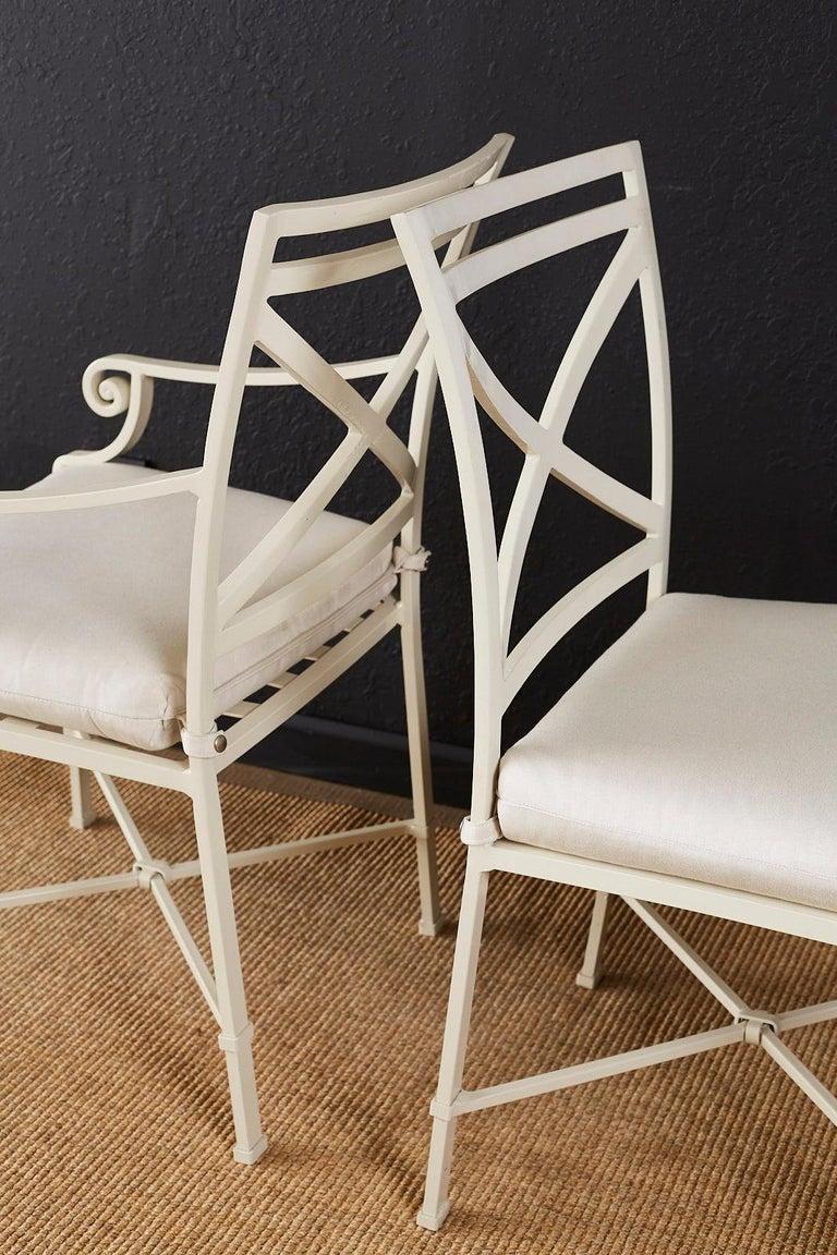 Set of Six Brown Jordan Aluminium Patio Garden Chairs For Sale 6