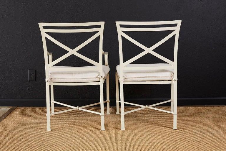 Set of Six Brown Jordan Aluminium Patio Garden Chairs For Sale 7