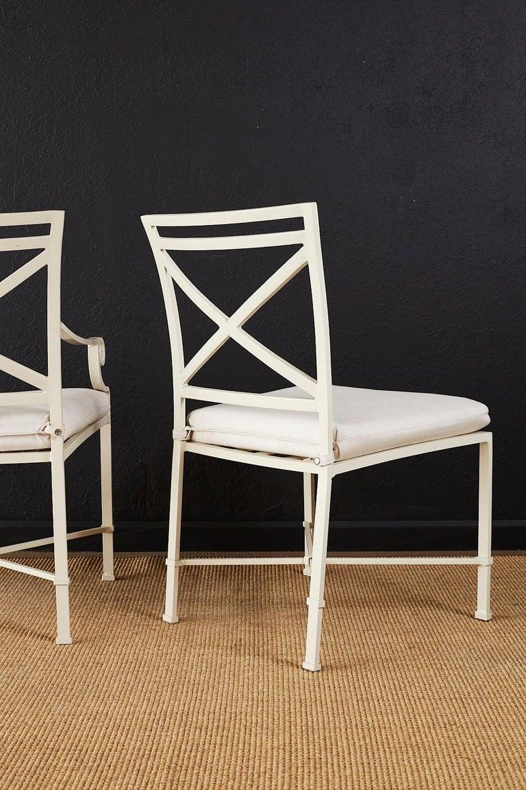 Set of Six Brown Jordan Aluminium Patio Garden Chairs For Sale 8