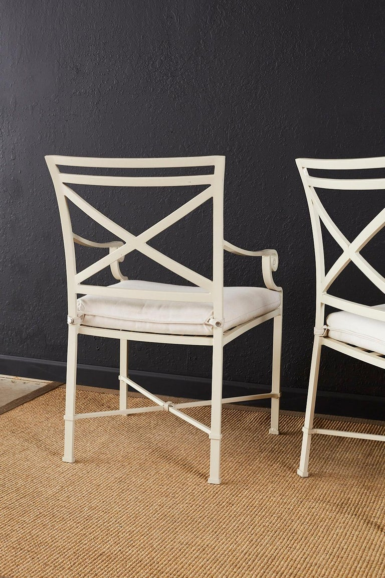 Set of Six Brown Jordan Aluminium Patio Garden Chairs For Sale 9
