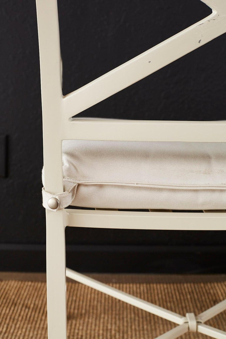 Set of Six Brown Jordan Aluminium Patio Garden Chairs For Sale 10