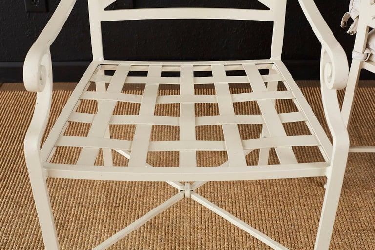 Set of Six Brown Jordan Aluminium Patio Garden Chairs For Sale 11