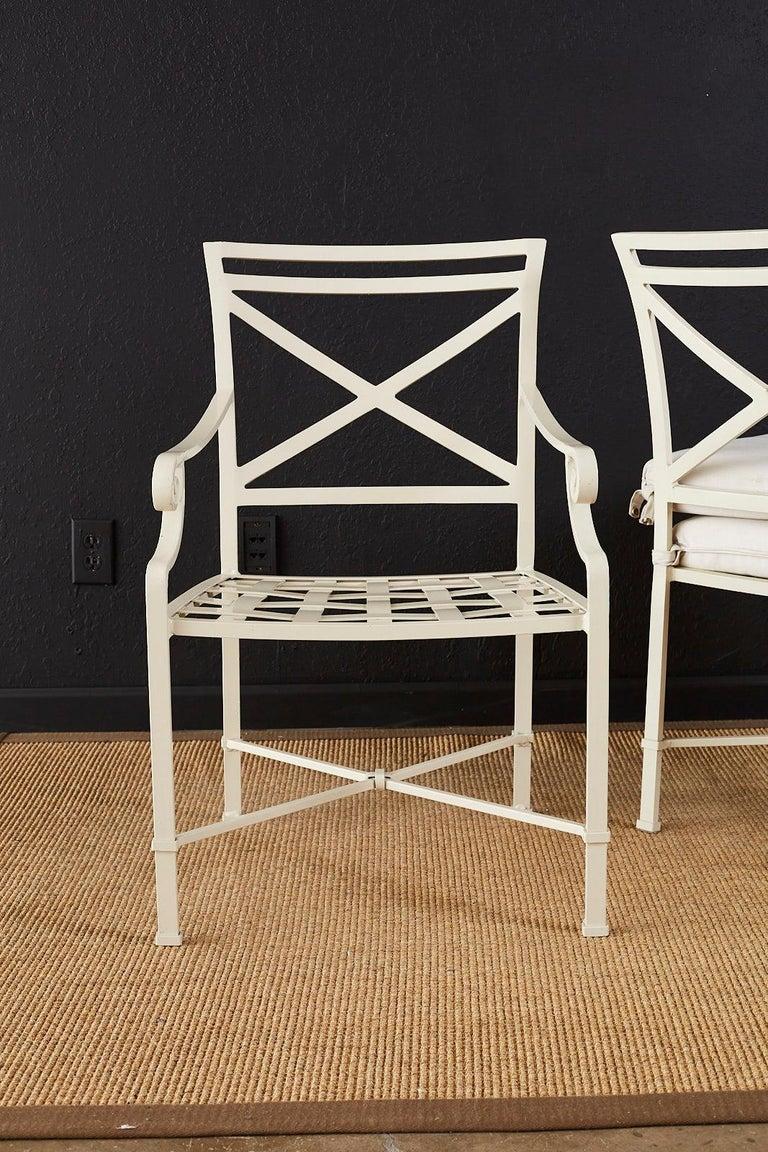 Set of Six Brown Jordan Aluminium Patio Garden Chairs For Sale 12