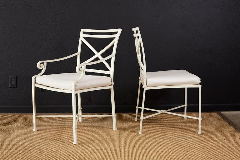 Set of Six Brown Jordan Aluminium Patio Garden Chairs In Good Condition For Sale In Oakland, CA