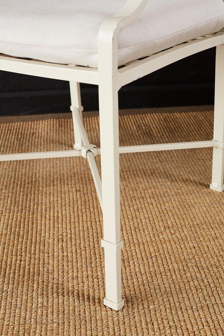 Set of Six Brown Jordan Aluminium Patio Garden Chairs For Sale 1