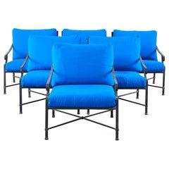 Set of Six Brown Jordan Venetian Patio Lounge Chairs