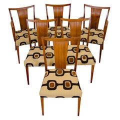 Set of Six Brown Saltman Dining Chairs Paul Frankl
