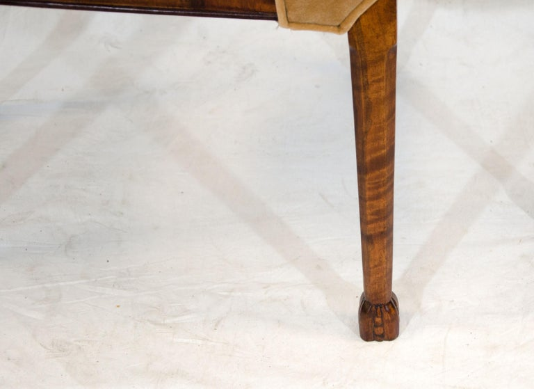 Set of Six Burl Walnut French Art Deco Dining Chairs For Sale 12