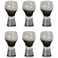 Set of Six Caithness Midcentury Drinking Glasses