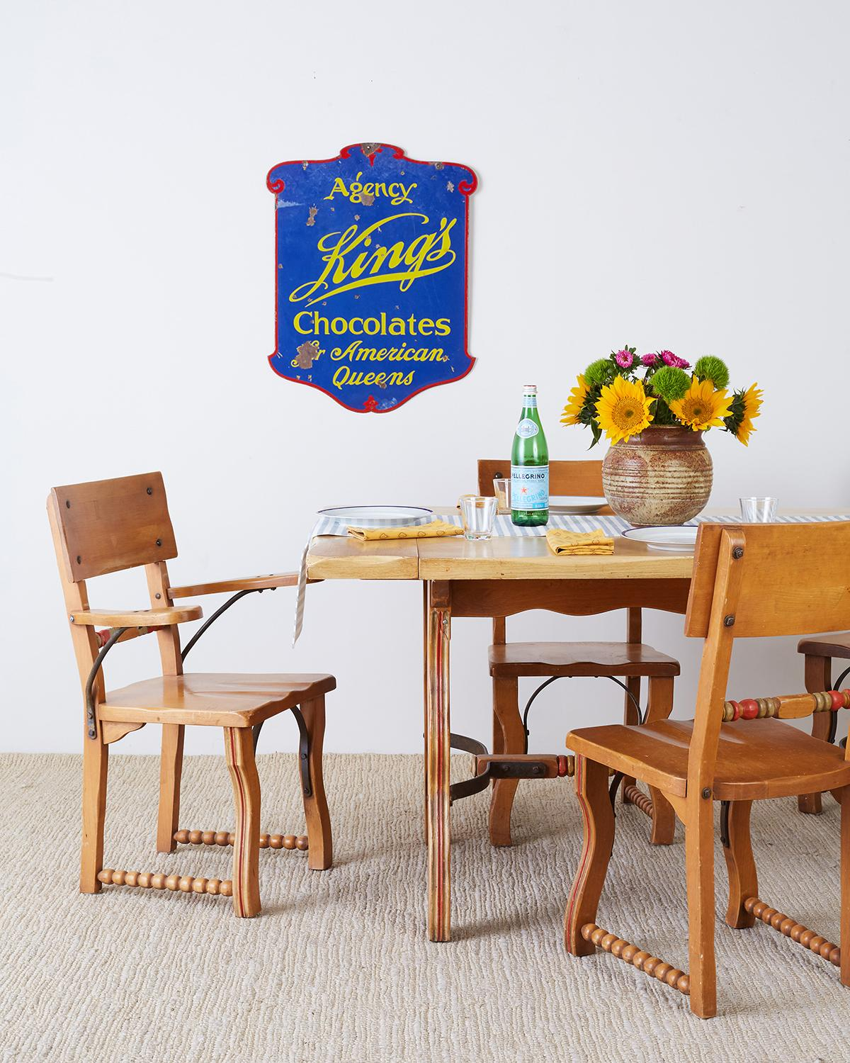 Classic set of six Rancho Monterey dining chairs by Frank Mason for Mason Furniture. California & Set of Six California Rancho Monterey Dining Chairs For Sale at 1stdibs