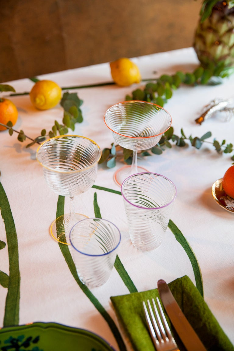 Campbell-Rey launches two new hand blown Murano glassware collections crafted from Pyrex. Named Cosimo and Cosima, the two sibling collections are a continuation of the close relationship between Campbell-Rey and glassmaker Laguna B, bringing