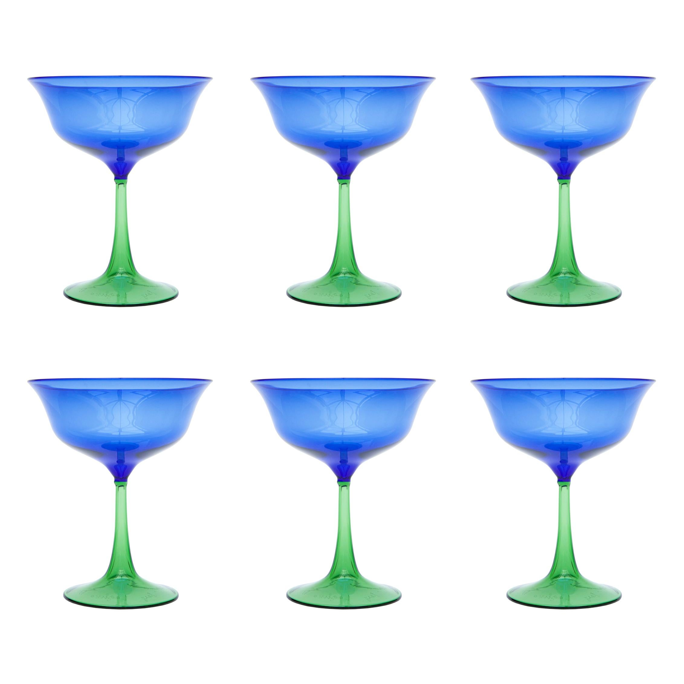 Set of Six Campbell-Rey Cosimo Murano Coupes