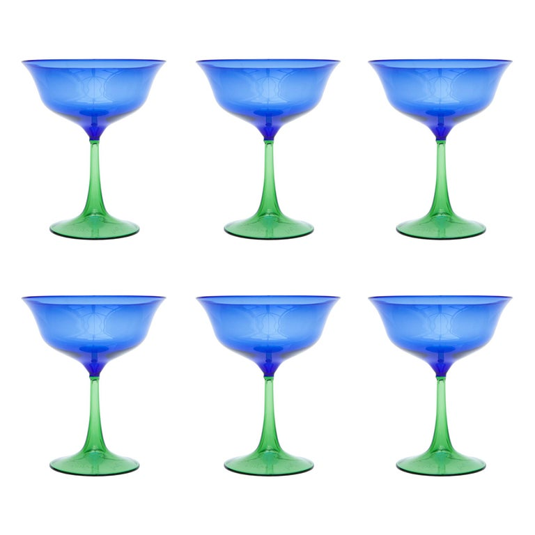 Set of Six Campbell-Rey Cosimo Murano Coupes For Sale