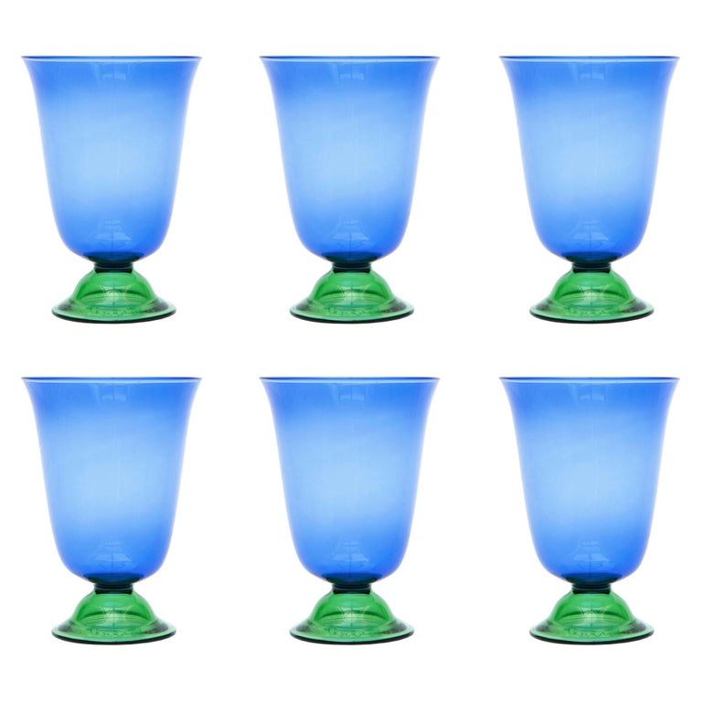 Set of Six Campbell-Rey Cosimo Murano Tumblers For Sale