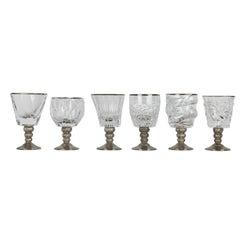 Set of Six Capriccio Assorted Chalices in Platinum
