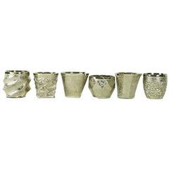 Set of Six Capriccio Glasses in Platinum